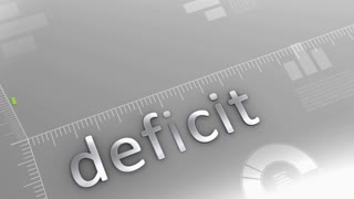 Deficit decreasing chart, statistic and data