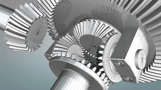 Differential gear wireframe, engineering, mechanical.