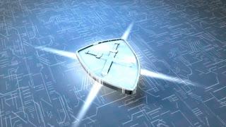 Digital shield, concept, electornic, circuit, shine, data, security.