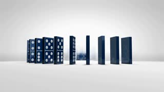 domino, effect, pieces, collapse, block, art