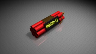 Dynamite time counter, bomb, digital, analog, wire, terrorist.