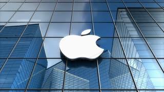 Editorial, Apple Inc. logo on glass building.