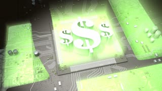 Electronic currency concept animation, virtual, online, market, free..