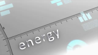 Energy decreasing chart, statistic and data