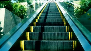 Escalator, device, machine, stairs, electric.
