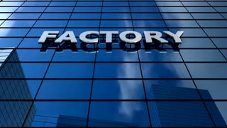 Factory building blue sky timelapse.