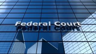 Federal court building, cloud time lapse.
