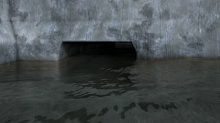 Flood meter rising animation, disaster, emergency, water.