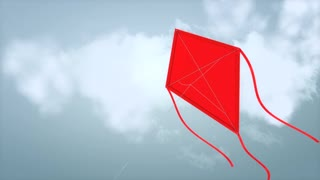 Fly a kite with alpha matte.