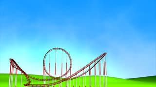 Fun park roller coaster, matte included.