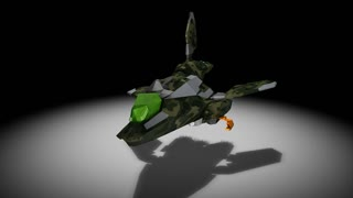 Futuristic space super fighter, camouflaged, alpha channel include.