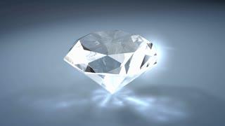 Gemstone diamond, with alpha matte.