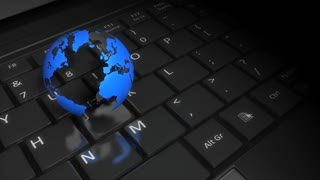 Globe and keyboard, worldwide web, internet, connect, global, community, people.