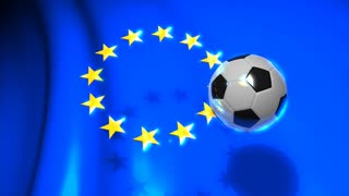 Graphic animation, Europa football. alpha channel.