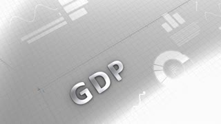 Growing chart GDP, gross domestic product.