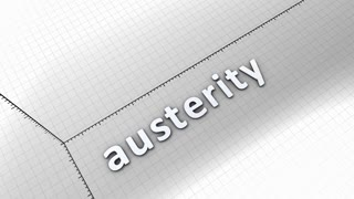 Growing chart graphic animation, Austerity.