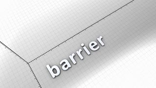 Growing chart graphic animation, Barrier.
