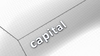 Growing chart graphic animation, Capital.