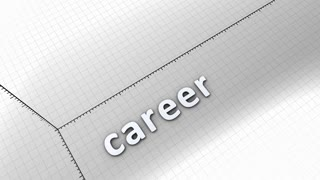 Growing chart graphic animation, Career.