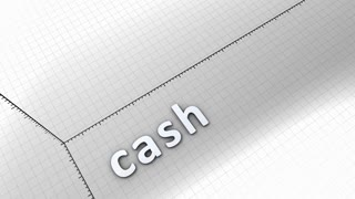 Growing chart graphic animation, Cash.