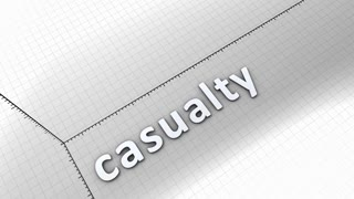 Growing chart graphic animation, Casualty.