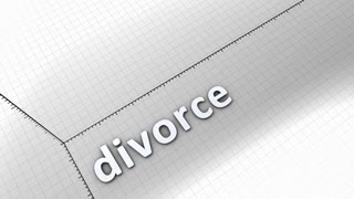 Growing chart graphic animation, Divorce.