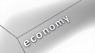 Growing chart graphic animation, economy, business.