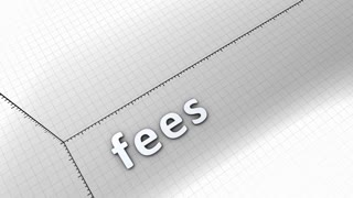 Growing chart graphic animation, Fees.