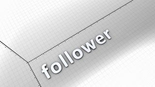 Growing chart graphic animation, Follower.
