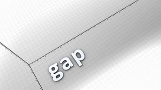 Growing chart graphic animation, Gap.