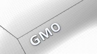 Growing chart graphic animation, GMO, genetically modified organism.
