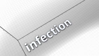 Growing chart graphic animation, Infection.
