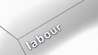 Growing chart graphic animation, Labour.