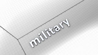 Growing chart graphic animation, Military.