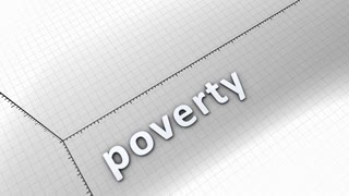 Growing chart graphic animation, Poverty.