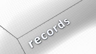 Growing chart graphic animation, Records.