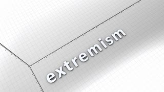 Growing chart graphic animation, rising extremism.