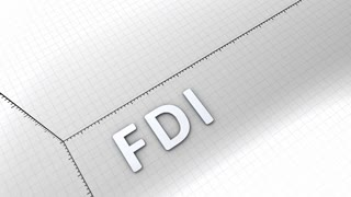 Growing chart graphic animation, rising FDI(Foreign Direct Investment)