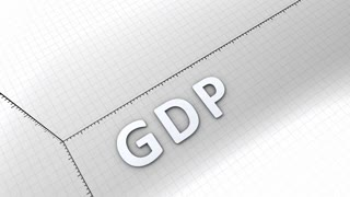 Growing chart graphic animation, rising GDP(Gross Domestic Product)