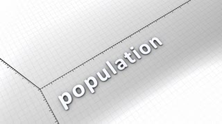 Growing chart graphic animation, rising population.