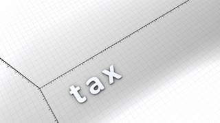 Growing chart graphic animation, rising tax.