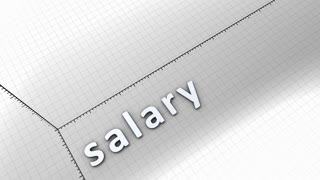 Growing chart graphic animation, Salary.