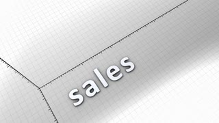 Growing chart graphic animation, Sales.