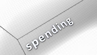 Growing chart graphic animation, Spending.