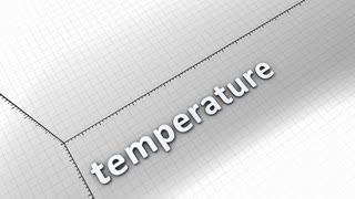 Growing chart graphic animation, Temperature.