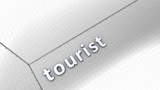 Growing chart graphic animation, Tourist.