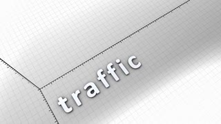 Growing chart graphic animation, Traffic.