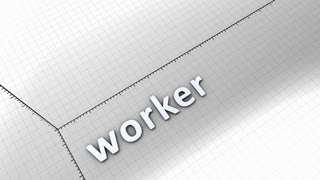 Growing chart graphic animation, Worker.