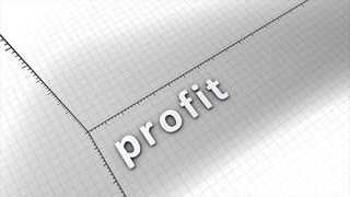 Growing profit chart graphic animation.