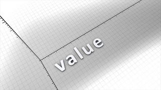 Growing value chart graphic animation.